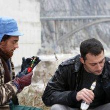 Elio Germano e Filippo Timi in un'immagine del film Come Dio comanda