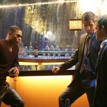 Nelly insieme a Eddie Cahill e Carmine Giovinazzo nell'episodio 'My name is Mac Taylor' della serie tv CSI New York