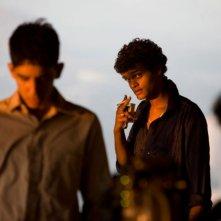 Un'immagine tratta da Slumdog Millionaire di Danny Boyle