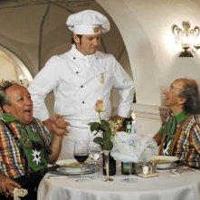 Bruno Arena, Enzo Salvi e Max Cavallari in una scena del film La fidanzata di papà