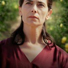 Hiam Abbass in una scena del film Il giardino di limoni
