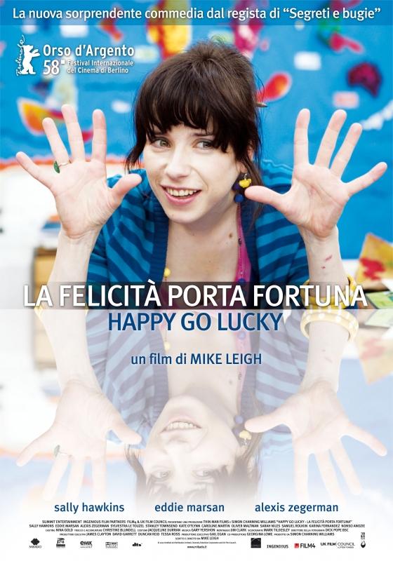 La Locandina Italiana Di La Felicita Porta Fortuna Happy Go Lucky 96245