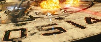 Una scena d'azione del nuovo film di Star Trek (2009)