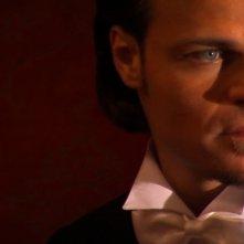 Barbato De Stefano in una sequenza di 'Sala buia', cortometraggio da lui scritto, diretto e interpretato.