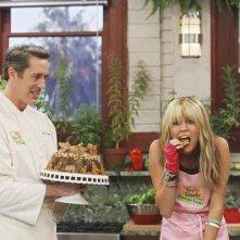 Miley Cyrus e Michael McDonald nell'episodio Don't Go Breaking My Tooth di Hannah Montana