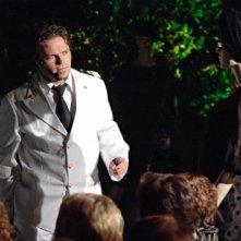 Barbato De Stefano durante lo spettacolo teatrale 'Il mio padrone si chiamava'