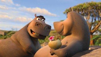 Gli ippopotami Moto Moto e Gloria in un'immagine del film Madagascar 2