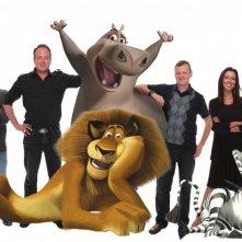 I registi di Madagascar 2, Eric Darnell e Tom McGrath, insieme ad altri due membri del cast tecnico del film