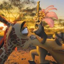 Melmann e Re Julien in un'immagine del film Madagascar 2