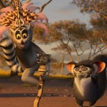 Re Julien e Maurice in una scena del film Madagascar 2