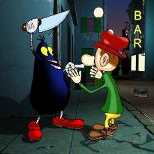 Una scena della serie Cattivik, dal fumetto di Silver
