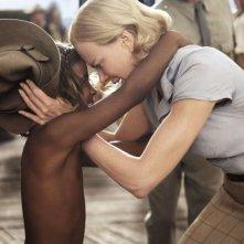 Brandon Walters e Nicole Kidman in una scena del film Australia