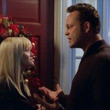Reese Witherspoon e Vince Vaughn in una scena della commedia natalizia Four Christmases