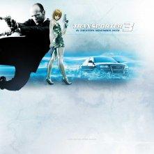 Un wallpaper di Transporter 3 con Jason Statham e Natalya Rudakova
