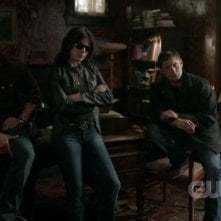 Traci Dinwiddie, Jensen Ackles, Jared Padalecki nell'episodio 'Heaven and Hell' della quarta stagione di Supernatural