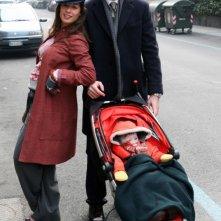 Diane Fleri e Luca Argentero sul set del film Solo un padre