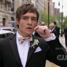 Ed Westwick nell'episodio 'Le strade si dividono' della serie tv Gossip Girl