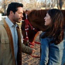 Genevieve Cortese insieme a Greg Serano nella prima stagione di Wildfire