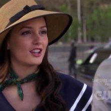 Leighton Meester negli istanti finali dell'episodio ' Le strade si dividono ' della serie tv Gossip Girl