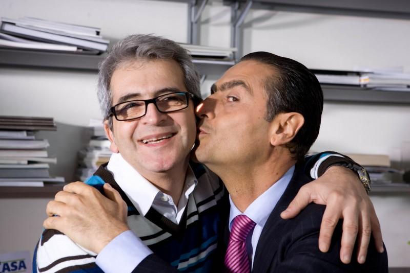 Pasquale Falcone E Antonio Stornaiolo Sul Set Del Film Io Non Ci Casco 97468