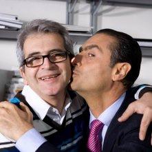 Pasquale Falcone e Antonio Stornaiolo sul set del film Io non ci casco