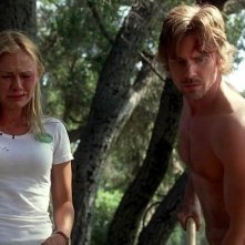 Anna Paquin e Sam Trammell in un'immagine dell'episodio You'll Be the Death of Me della serie True Blood