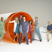 Il cast di Scrubs in un'immagine promozionale dell'ottava stagione.