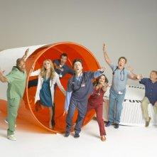 Il cast di Scrubs in una foto promozionale dell'ottava stagione.