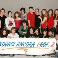 Veronica Pivetti con i ragazzi di Provaci ancora Prof! 2