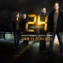 Mary Lynn Rajskub, James Morrison, Carlos Bernard e Kiefer Sutherland in una foto promozionale della settima stagione di 24
