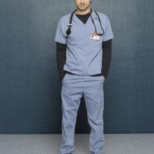 Zach Braff in una foto promozionale per l'ottava stagione di Scrubs