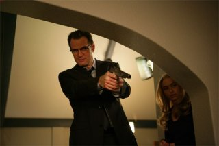 Jack Coleman ed Hayden Panettiere in una scena dell'episodio The Eclipse : Part 2 di Heroes