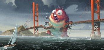 Un'immagine tratta dal film Mostri contro Alieni