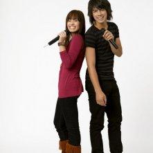 Demi Lovato e Joe Jonas in una foto promozionale del film Camp Rock