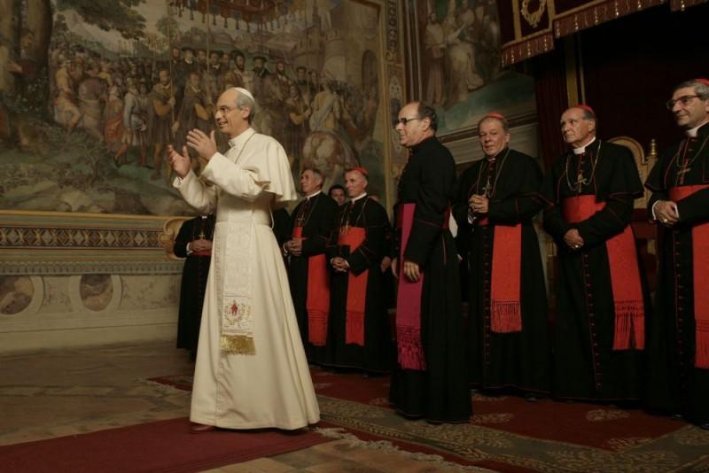 Fabrizio Gifuni Padre Montini E Mauro Marino Monsignor Macchi In Una Scena Della Fiction Paolo Vi Il Papa Nella Tempesta 98169
