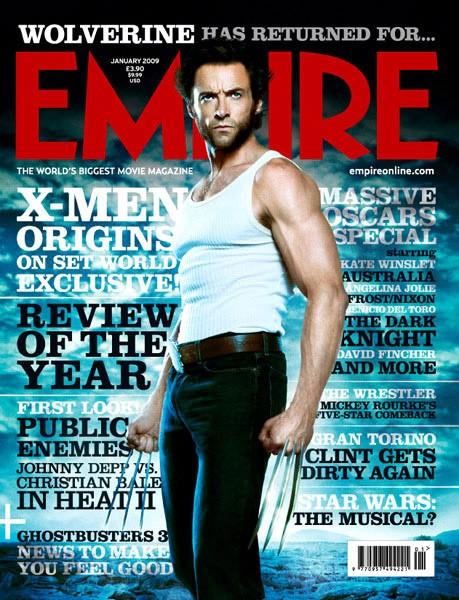 Hugh Jackman Sulla Copertina Di Empire Di Gennaio 2009 Nei Panni Di Wolverine 98106