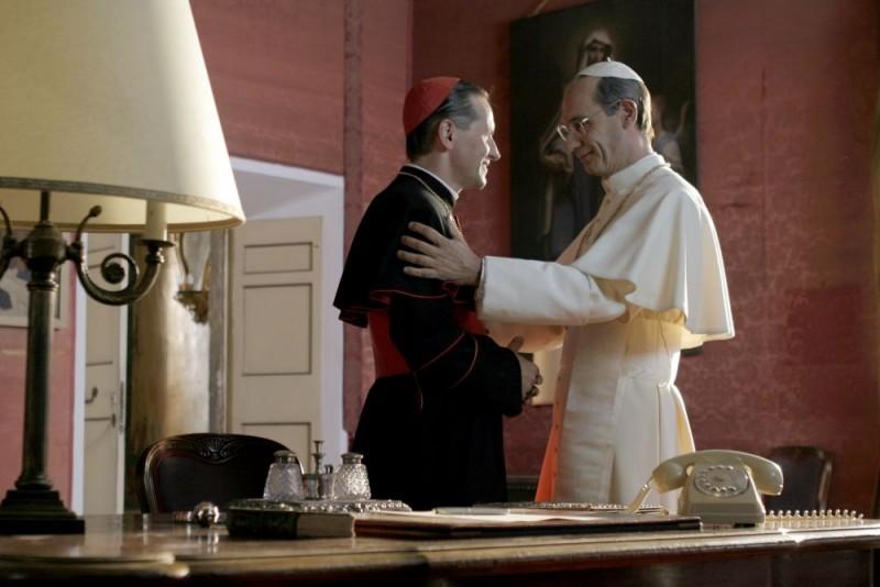 Maciej Robakiewicz Karol Wojtyla E Fabrizio Gifuni Papa Montini In Una Scena Della Fiction Paolo Vi Il Papa Nella Tempesta 98143