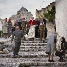 Una scena della fiction Rai Paolo VI - Il Papa nella tempesta