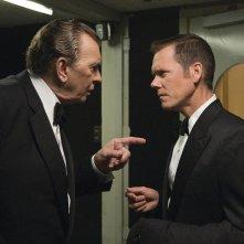 Frank Langella e Kevin Bacon in una scena del film Frost/Nixon