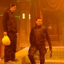La regista Lexi Alexander e Ray Stevenson sul set del film Punisher: War Zone