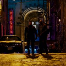 Ray Stevenson e Colin Salmon in una scena del film Punisher: War Zone