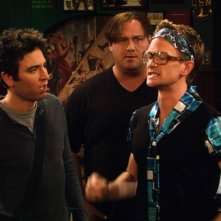 Will Sasso, Neil Patrick Harris e Josh Radnor nell'episodio The Fight di E alla fine arriva Mamma!