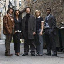 Il cast di Leverage in una foto promozionale della serie.