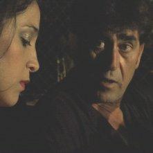 Domenico Gennaro con Donatella Finocchiaro nel cortometraggio 'Caronte' di Mario Cosentino