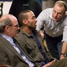 Richard Jenkins, Haaz Sleiman e il regista Thomas McCarthy sul set del film L'ospite inatteso