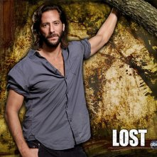 Un wallpaper della serie tv Lost con Henry Ian Cusick, interprete di Desmond