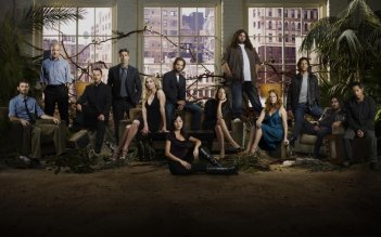 Una foto promozionale del cast della quinta stagione di Lost