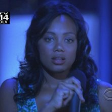 Tiffany Hines in una scena nell'episodio 'Young Man with a Horn' della serie tv CSI Las Vegas
