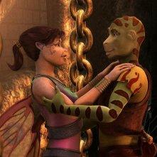 La principessa Kyla e Delgo in una scena del film Delgo