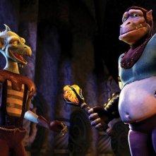 Spig e Spog in una scena del film Delgo